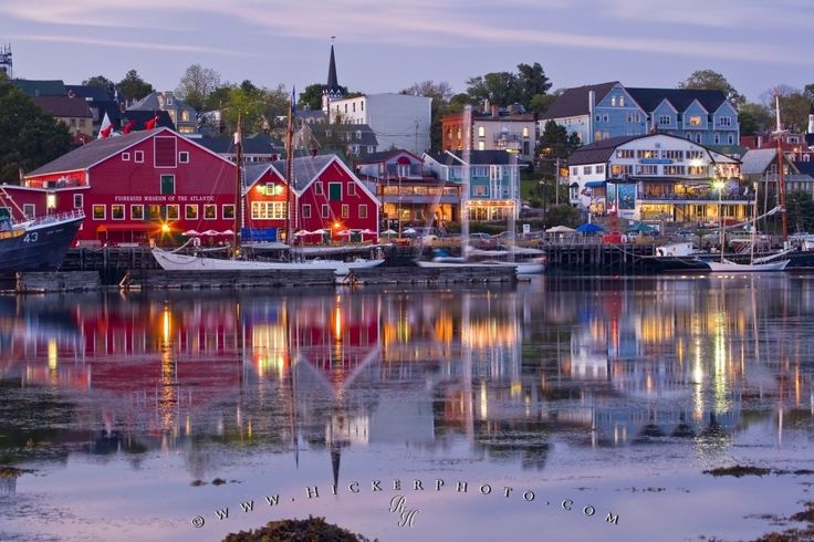 Waterfront and harbour of the historic town of Lunenburg, Nova Scotia