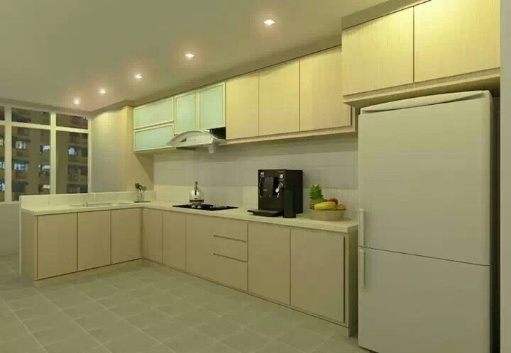 Simple hdb kitchen photo credita to budget studio for Simple and cheap kitchen design