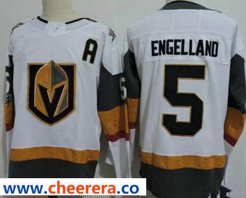 more photos 2aac9 22d8e Vegas Golden Knights #5 Deryk Engelland White Stitched ...