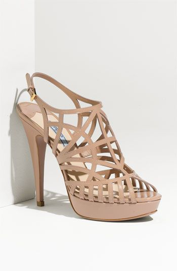 Prada Strappy Patent Leather Sandal