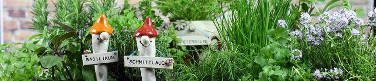 Kräuterstecker und Kräutertöpfe für die Küche und den Garten.