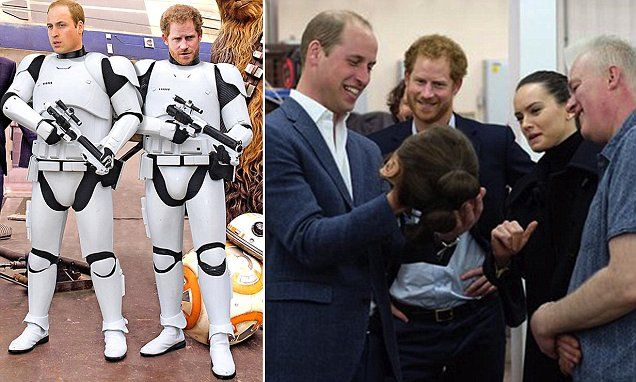 Prince William and Harry secretly film Stormtrooper roles for Star Wars epic