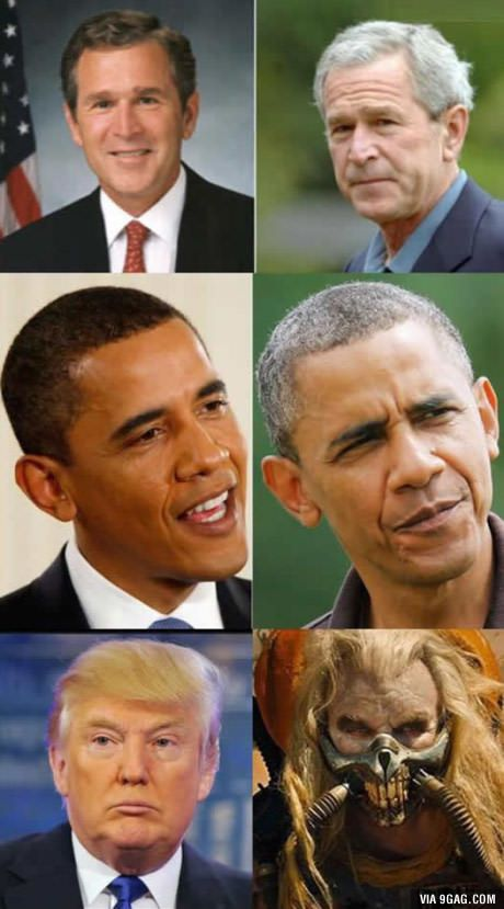 Kind of intense how the presidency ages you