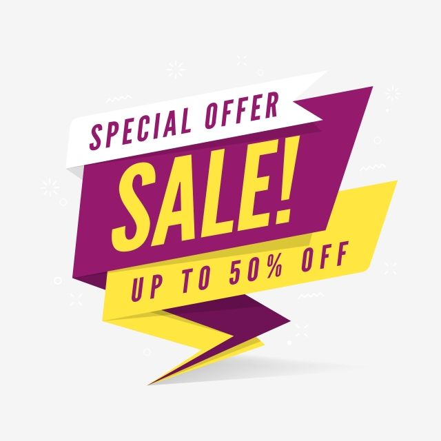 Special Offer Sale Banner Template In Flat Style 50 Advertising Art Png And Vector With Transparent Background For Free Download Sale Banner Banner Template Banner