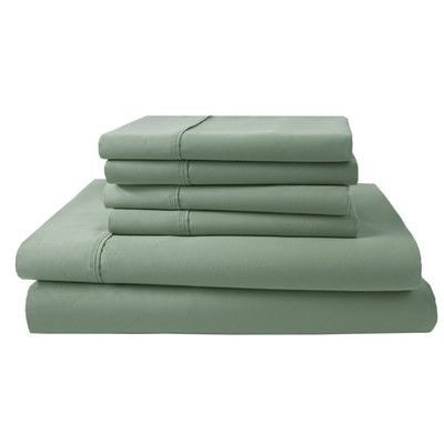 elite home products park ridge 4 piece thread count sheet set size california king - Thread Count Sheets