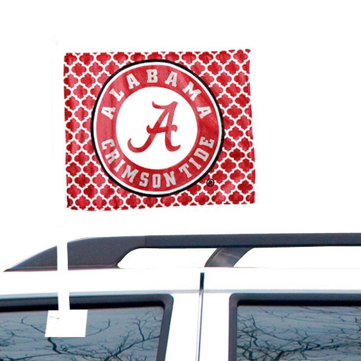 Alabama Crimson Tide Quatrefoil Double-Sided Fashion Car Flag - $10.39