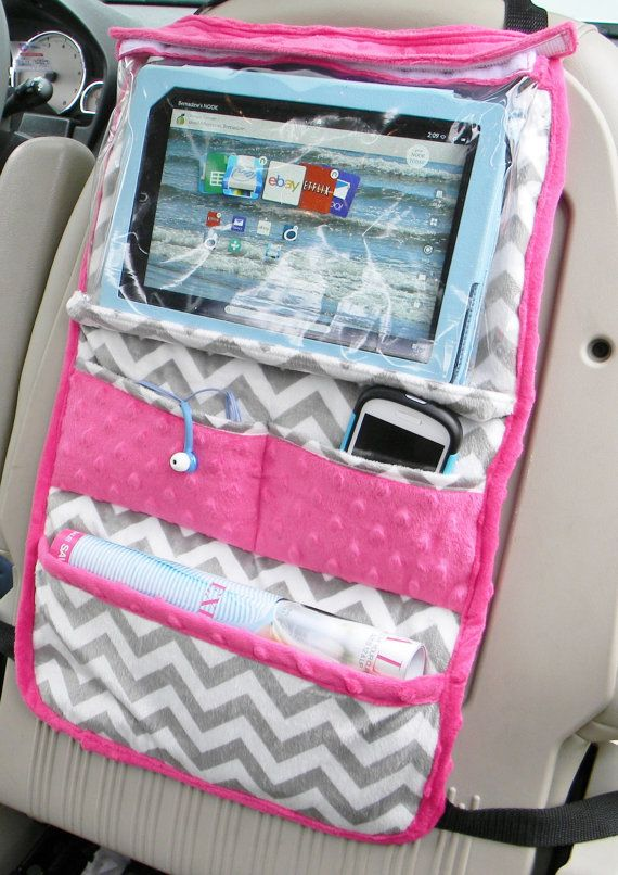 This is a IPad or tablet holder organizer for teens by berniea64 on etsy
