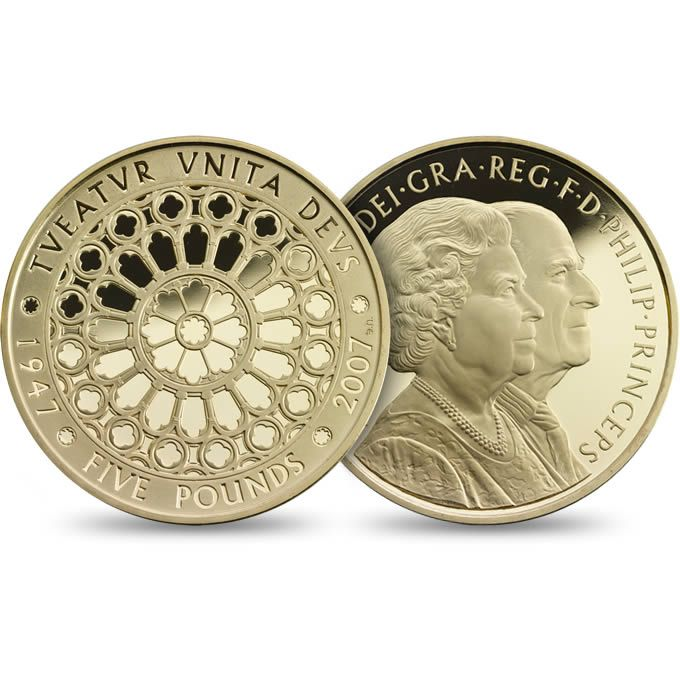 The Diamond Wedding 2007 £5 Gold Proof Coin