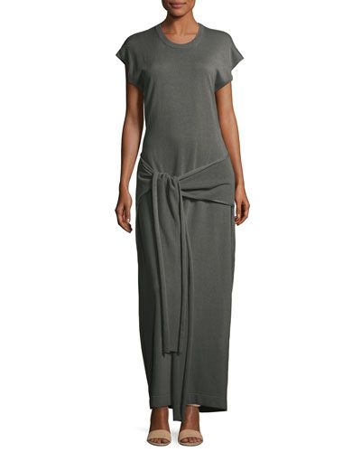 Tipi Tie-Waist Open-Back Knit Maxi Dress