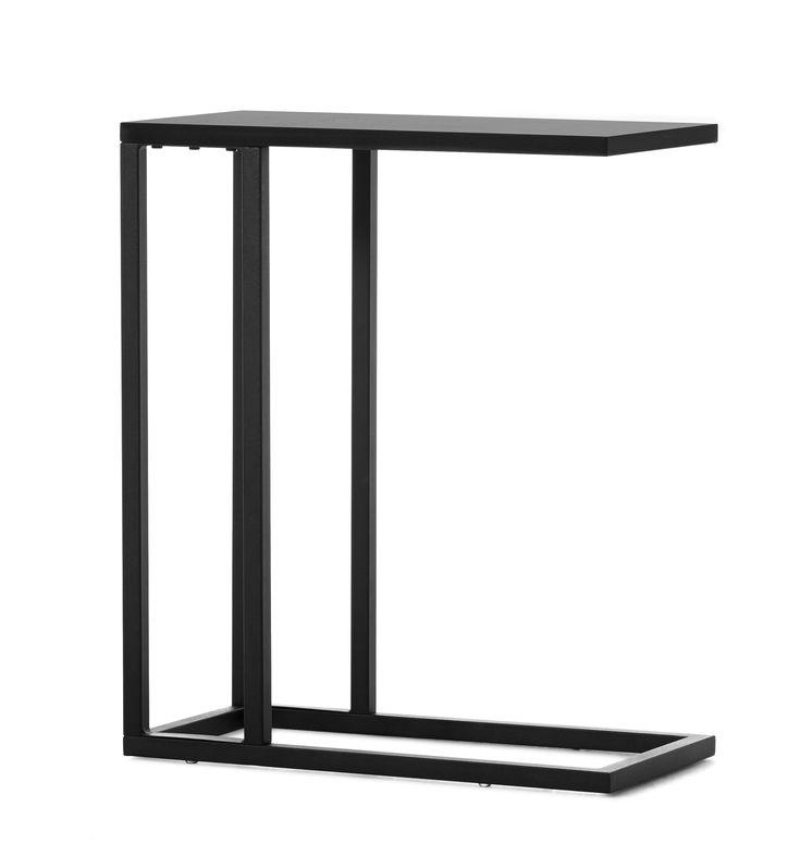 Ett sidobord som går att skjuta in över armstödet på soffan eller fåtöljen.