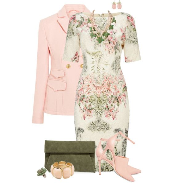 Garden Party by tinayar on Polyvore featuring Adrianna Papell, Altuzarra, Halston Heritage, LULUS, Karl Lagerfeld and Sabine
