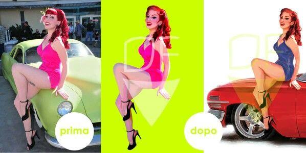 #pinup #car #summer Creazione di Domenica Fittipaldi PAG FB: Domenica Fittipaldi -Arte-