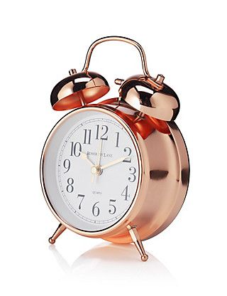 Mantel Twin Bell Alarm Clock | M&S