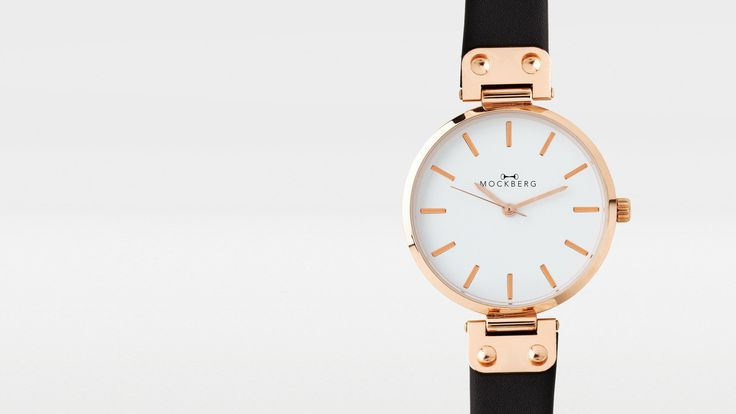 Mockberg watch in rosé gold and black leather. I think it's just about perfect. And not even expensive! Perhaps a birthday present from myself...:
