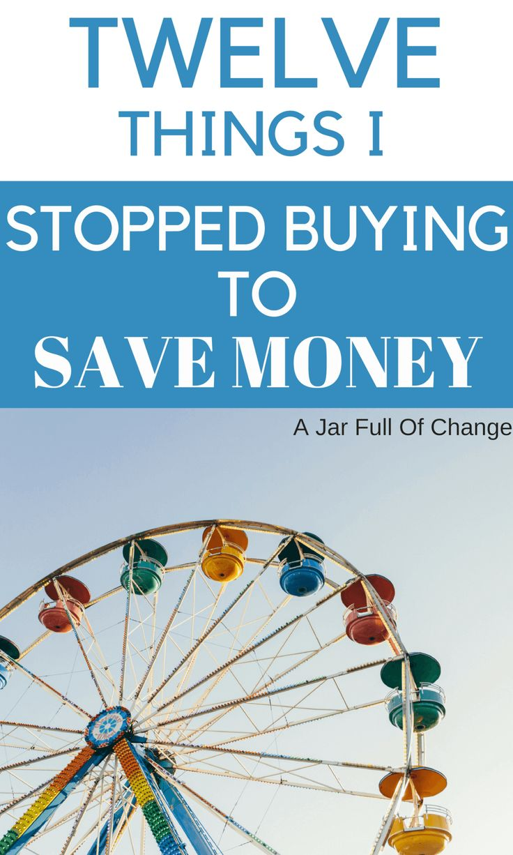 Here are some things I stopped buying to save money. They're perfect frugal living ideas that anyone can do! via @jarfullofchange