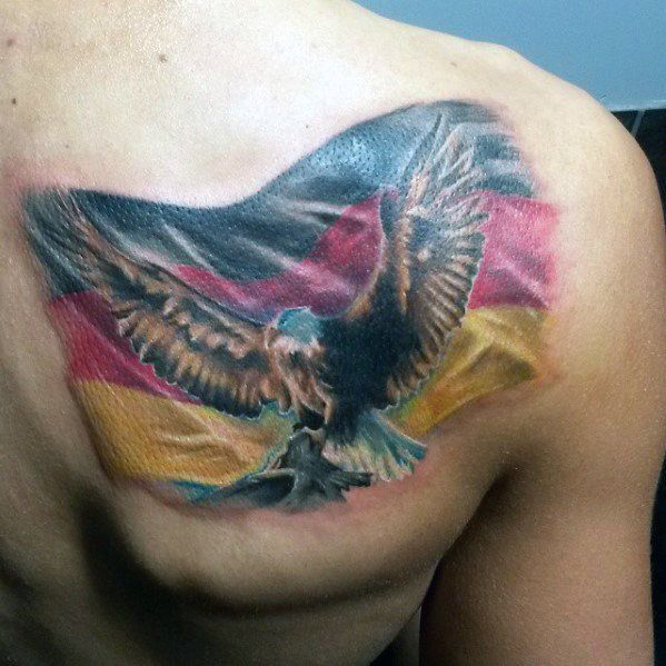 50 German Eagle Tattoo Designs For Men Germany Ink Ideas German Tattoo Tattoos Tattoo Designs Men