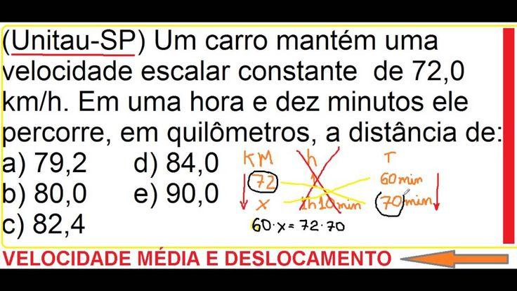 Física Aula Velocidade escalar média Distância total ou deslocamento per... https://youtu.be/LlnjTrdXlyw