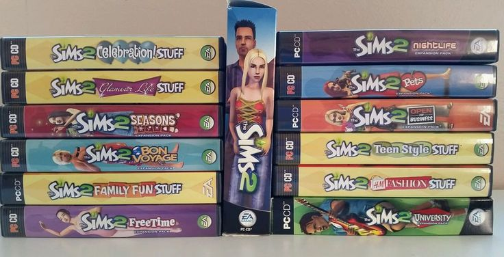 Sims 2 PC Lot Collection Original Expansion Seasons Bon Voyage Free Time Pets