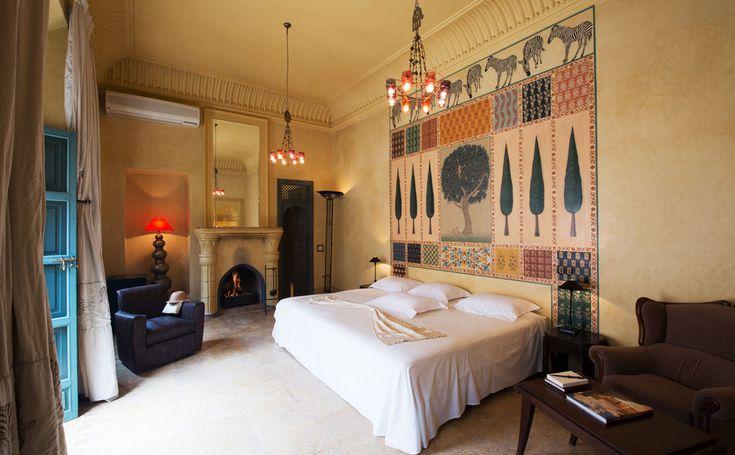 Les Deux Tours Marrakech, Morocco Bedroom Rustic property building house living room home Suite cottage Villa mansion
