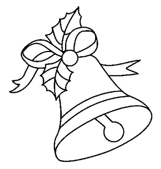 Dibujos para colorear de Campanas de navidad.