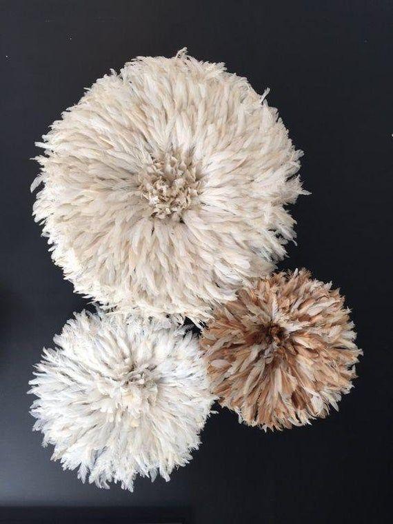 White And Beige Juju Hat Set Of 3 Juju Hats Interior Etsy In 2021 Juju Hat Juju Hat Decor Wholesale Decor