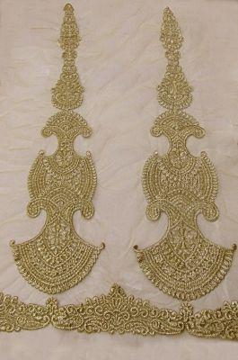 Zari Embroidered Net Fabric-C0402001