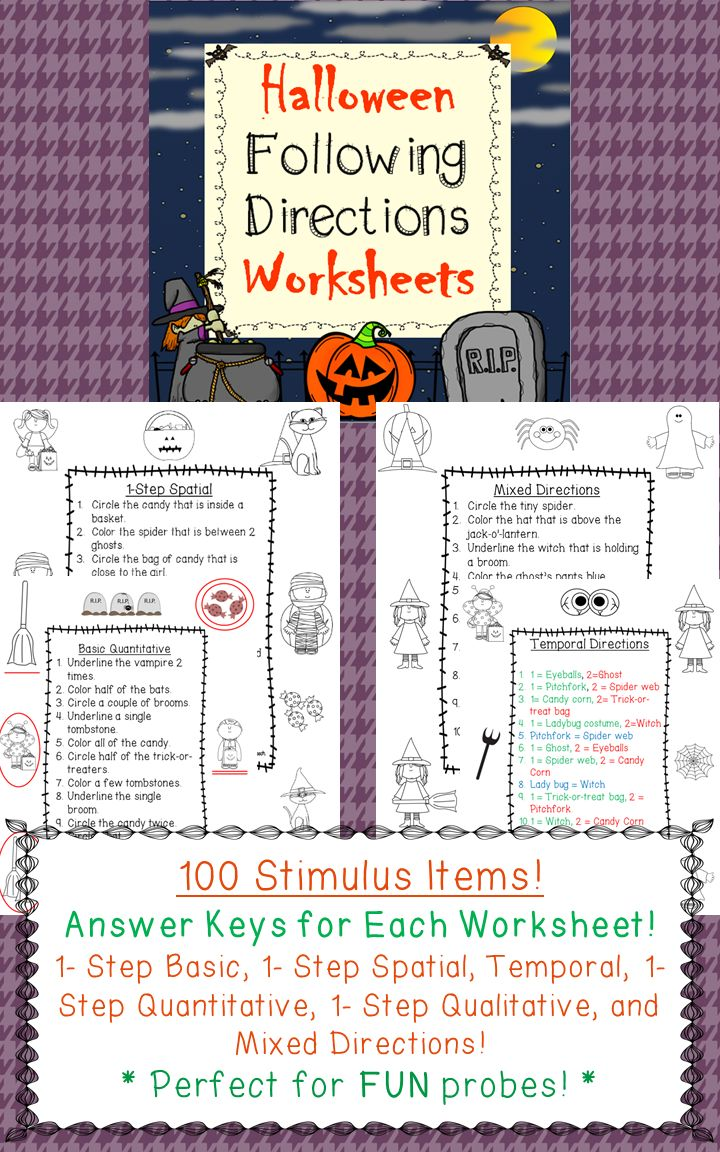halloween following directions worksheets back to school the o 39 jays and halloween. Black Bedroom Furniture Sets. Home Design Ideas
