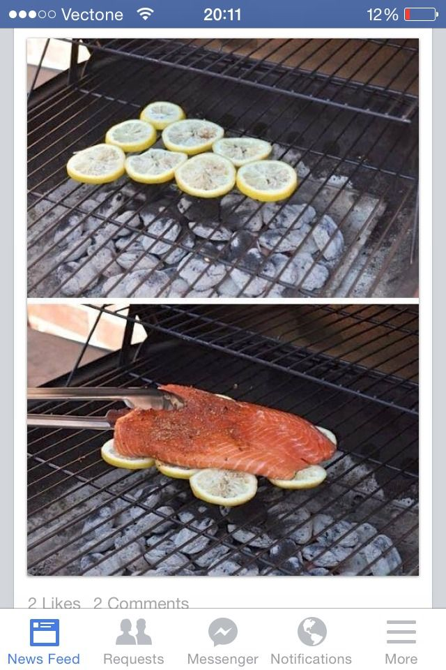 How To BBQ Fish Easy Way Is To Place On Top Of Lemon Slices Great Taste And No Broken Fish Pieces:) #Food #Drink #Trusper #Tip