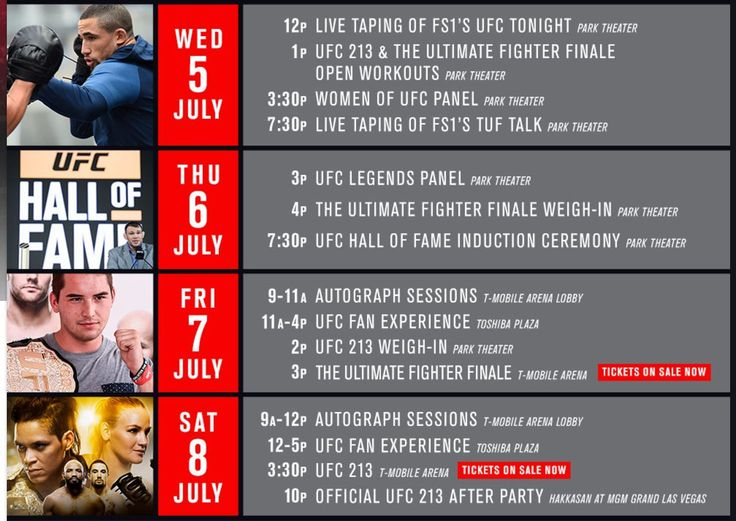 Seen the schedule for #UFC's #InternationalFightWeek? The 4-day event is only a week away and it's all happening in #LasVegas. Can't wait!! Between the #TUF finale and #UFC213 there will be plenty to watch. Are you going??? #UFC #MMA #mixedmartialarts #martialarts #MMAnews #MLMMA #MustLoveMMA #SusanCingari #DanaWhite #Combatsports #boxing #kickboxing #BJJ #wresting #fight #fighter #MMAfighter #UltimateFightingChampionship #twitter  #NUNESvsSHEVCHENKO #theultimatefighter #tufredemption…
