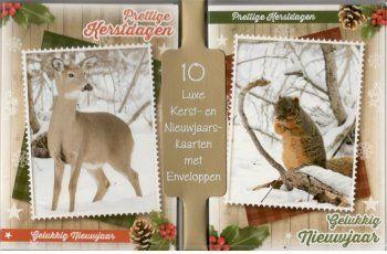 dieren kerstkaarten met herten en eekhoorns