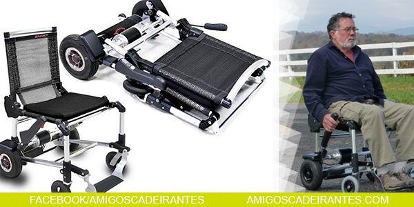 Cadeira de rodas elétrica, ultraleve, prática...