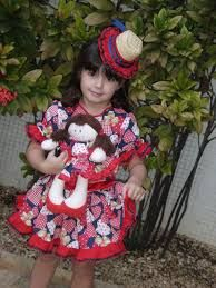 Resultado de imagem para roupas de festa junina feminina infantil