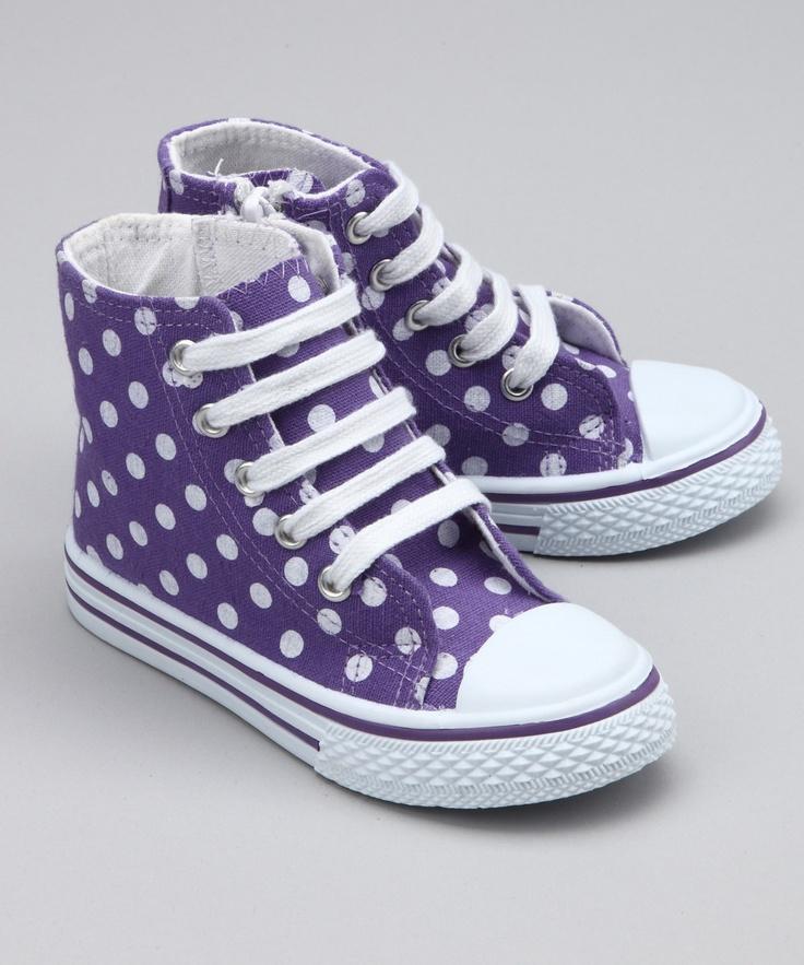 Purple Polka dot high tops!