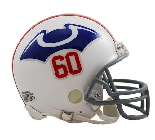 New England Patriots Helmet Riddell Replica Mini VSR4 Style 1960 Throwback