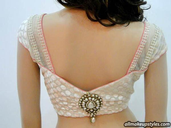 blouse designs back side …