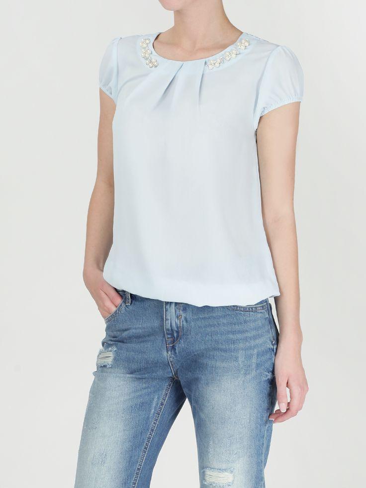 Блузка с аксессуарами по воротнику - Рубашки и блузки | LIMÉ