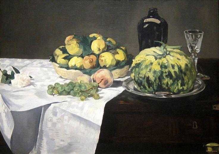 """""""Melon et pêches"""", d' Édouard Manet 1866"""