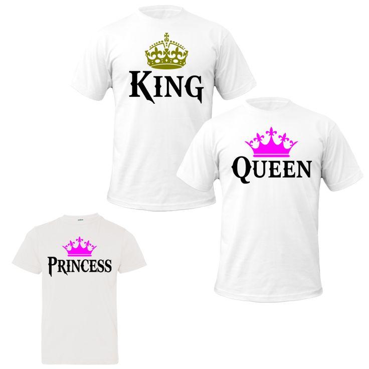 King queen princess tshirts family tshirts king quen princess