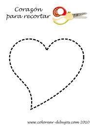 moldes de corazon para imprimir - Buscar con Google