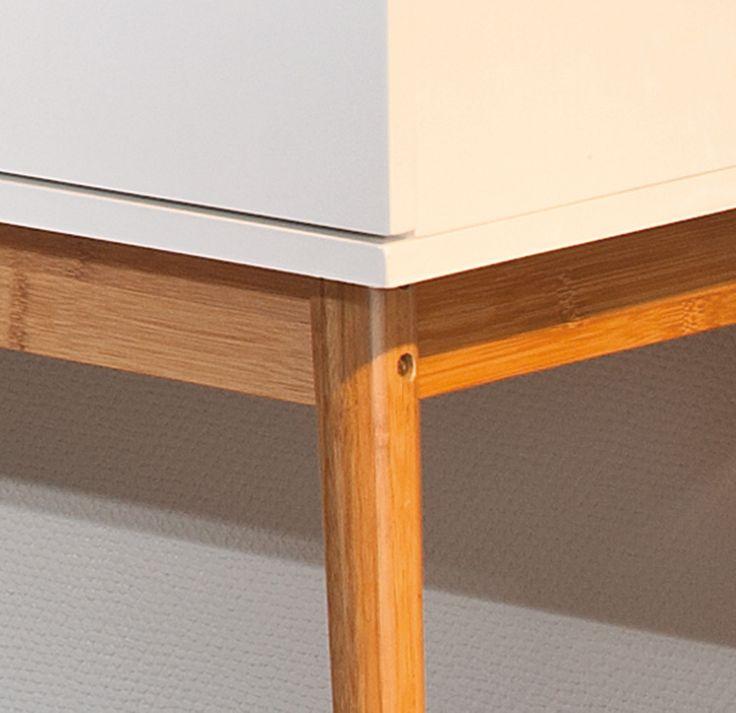 Kommode Bambus Retro Design Anrichte Wohnzimmer Wohnkommode 1 Trig 2 Schubladen In Mbel Wohnen