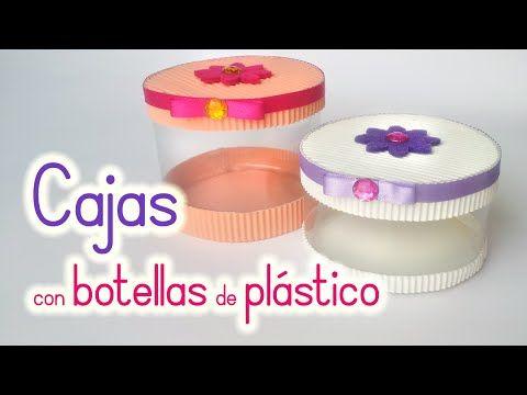 Manualidades: CAJAS con BOTELLAS de Plástico - Reciclaje - Innova Manualidades - YouTube
