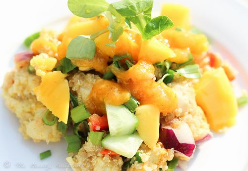 Recept: Quinoa Salade met Kip en Mango Saus