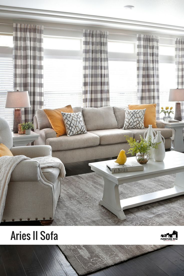 Casual, contemporary Aries II Sofa has comfort, style, and luxury