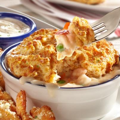new! cheddar bay biscuit shrimp & lobster pot pie | seaside mix