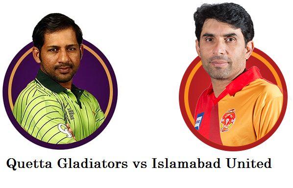 PSL Final: Quetta Gladiators vs Islamabad United T20 Live score