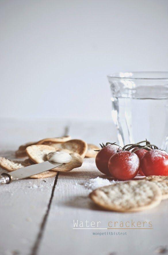 Water crackers (basiques) #recipes #crackers