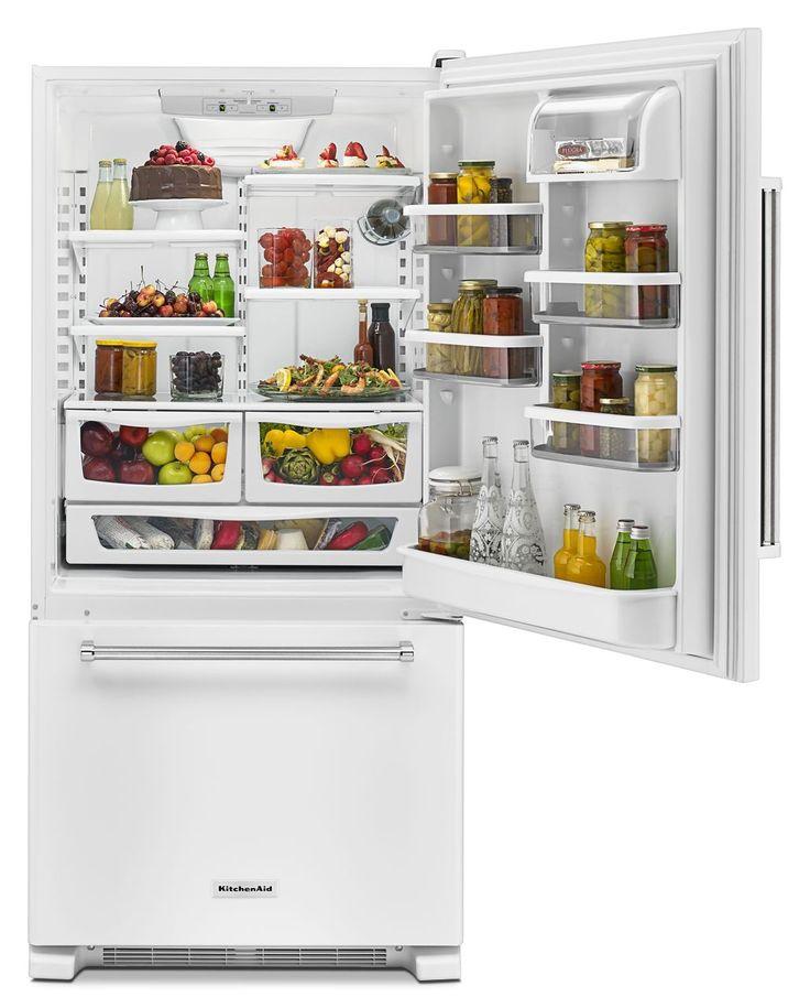 Kitchenaid 19 cu ft bottommount refrigerator with