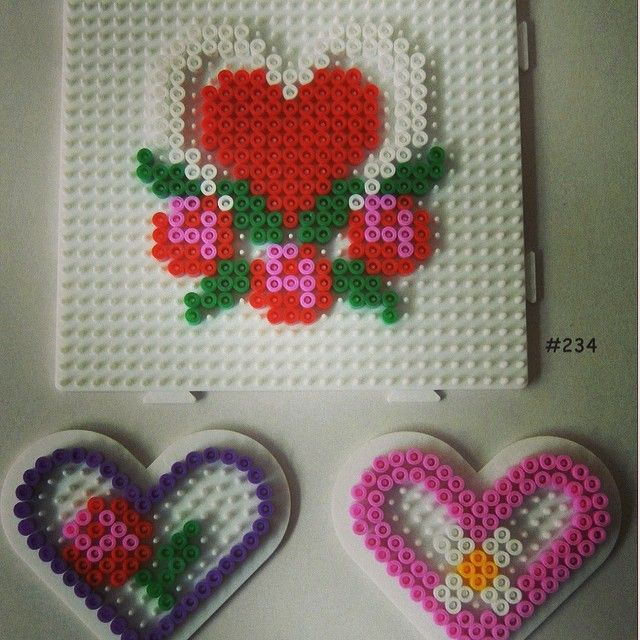 Hearts hama perler by Melissa Bengtsson