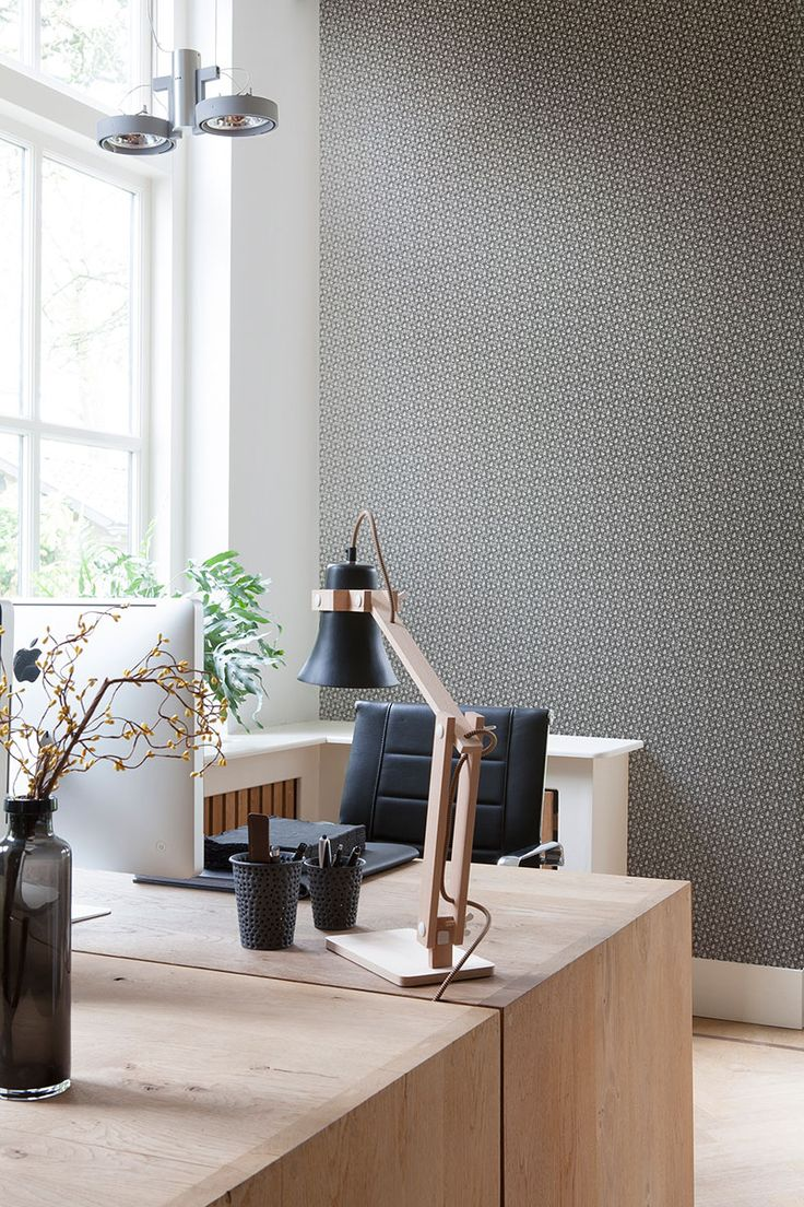 Gainsboro Entwined Wallpaper homeoffice design transformationthursday 22