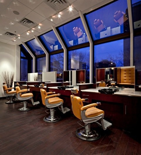 The modern day barber shop at #OurSalon in #yyc... exclusively for Men only!